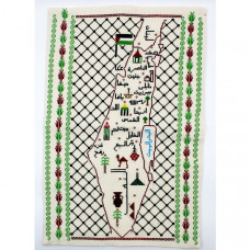 Old map of Palestine, 1942, fine reproduction, large map, fine art print, oversize map print